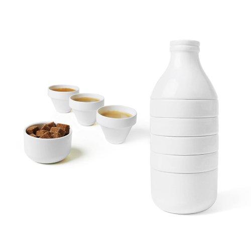 DOIY stapelbares Teeservice aus Porzellan