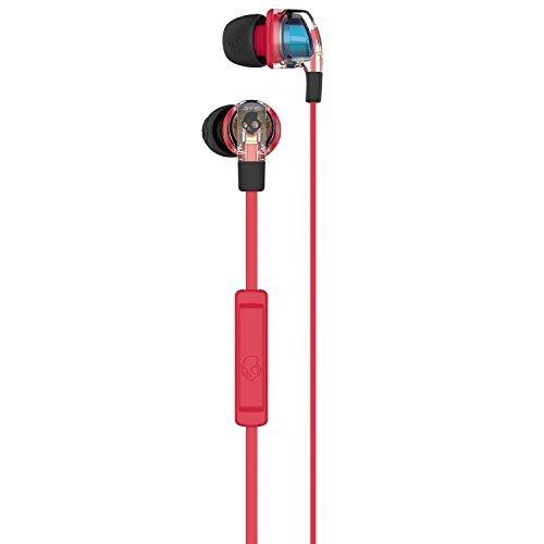 3 Mic Kopfhörer Skullcandy (Skullcandy Smokin Bud 2 In-Ear Kopfhörer mit Mikrofon - Spaced Out/Clear/Black)