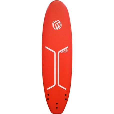 Madness Surfbrett, Schaumstoff 8 '0 Wide HD Core Red/White, Rot, 8'0