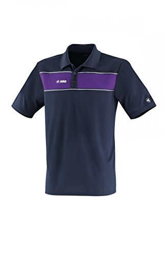 Jako Herren Polo Shirt Player marine/lila