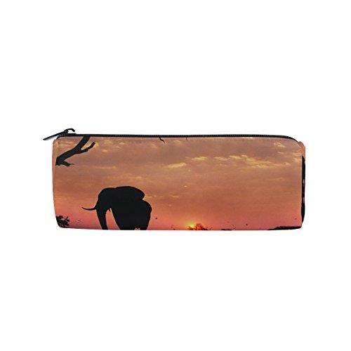 Bennigiry - Estuche para lápices con cremallera, diseño de elefantes africanos, bolsa...