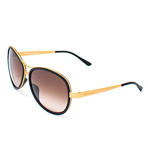 Italia Independent Damen 0073-009-000 Sonnenbrille, Schwarz (Negro), 60.0