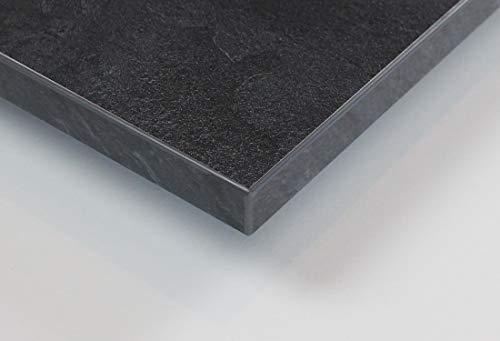 MySpiegel.de Tischplatte Holz Zuschnitt nach Maß Beschichtete Holzdekorplatte (120 x 70 cm, Schiefer)