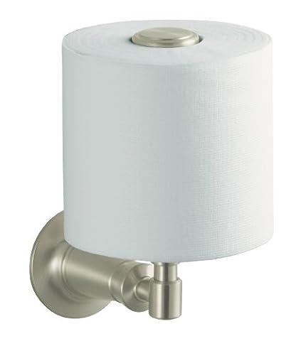 Kohler K-11056-BN Archer Vertical Toilet Tissue Holder, Vibrant Brushed Nickel by KOHLER (English Manual)