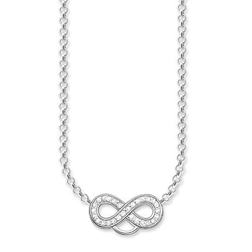 Thomas Sabo Damen-Charm-Kette Charm Club 925 Sterling Silber Zirkonia weiß Länge von 38 bis 44 cm X0205-051-14-L42v