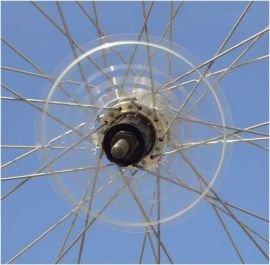 Dekaform Speichenschutzscheibe für ATB, MTB,Trekking-Fahrrad 155mm bis 26-32 Zähne * transparent