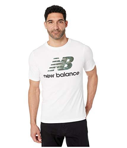 New Balance Herren Mt91546 kurzärmelig, White/Multicolor, Small Nine West Modell