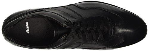 BATA 8246988, Pompes à Plateforme Plate Homme Noir (Nero)