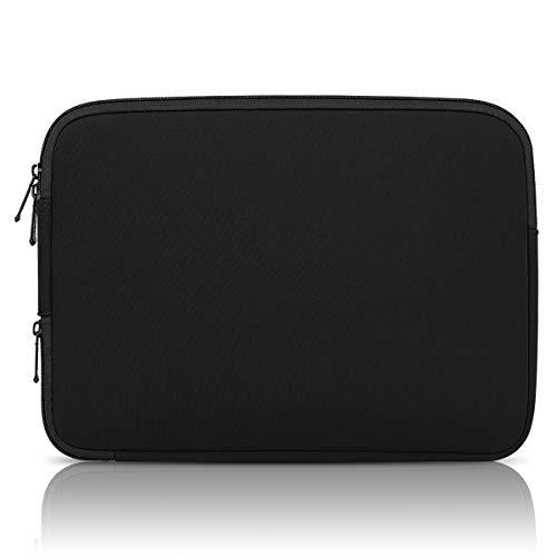 Arvok [Verbesserte Version] 15-15.6 Zoll Laptoptasche mit Eck-Reißverschluss zum Aufladen und Interne Tasche Schutzhülle Wasserfest Neoprene Notebook Computer Tasche Tablet Aktentasche (Schwarz)