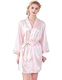 Batas de Seda de Seda Vestido de Maquillaje de Boda túnicas de Punto Vestidos de Novia