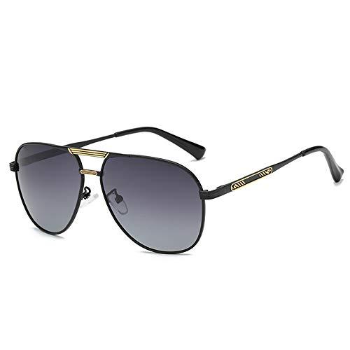 LEIAZ Herren Polarisierte Fahren Sonnenbrillen Sport im Freien Eyewear Unzerbrechlich Spring Scharnier Ultra-Light Schwarzer Rahmen HD Objektiv für Männer