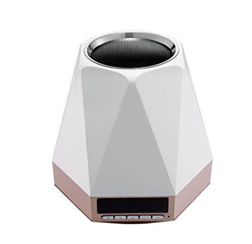 Casio-audio (Led Desktop Wecker Schwarz Weiß Champagner Gold Optional Audio Nachtlicht Subwoofer Kabelloser Bluetooth Lautsprecher B)