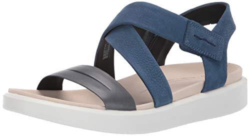 ECCO Damen FLOWT W Peeptoe Sandalen, Blau (Marine/True Navy 52625), 38 EU True Navy Schuhe