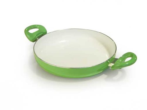 Ipac Pentola con rivestimento in ceramica, 28 cm, colore: Verde