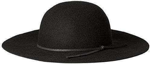 San Diego Band (San Diego Hat Company Damen Floppy mit runder Krone und Veloursleder-Band - Schwarz - Einheitsgröße)
