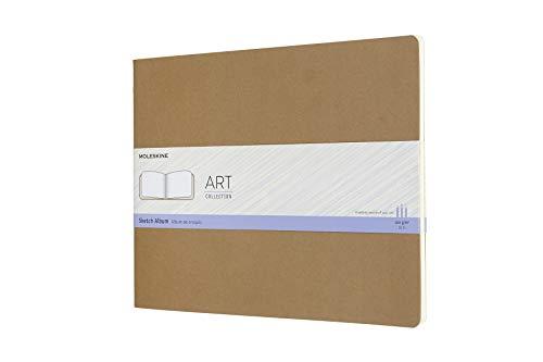 Moleskine 8058647626802 Skizzenalbum, 120g Papier Xxlarge, Kartoneinband Packpapierbraun
