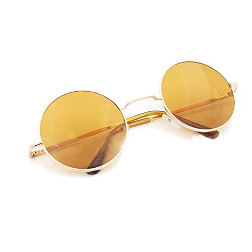 CCGSDJ Sonnenbrillen Für Frauen Markendesigner Männer Sonnenbrille Runde Rahmen Oculos De Sol Rosa Spiegel Brille Lunette De Soleil Femme
