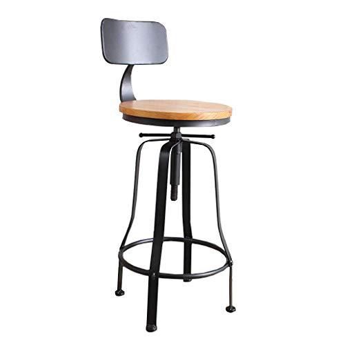En bois rotatifs tabourets marron clair pivotant bar pub chaise de cuisine petit déjeuner siège