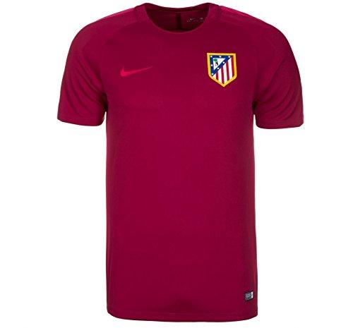Nike ATM M NK Dry Top SS SQD - Camiseta de manga corta Atlético de Madrid para hombre, color rojo, talla S