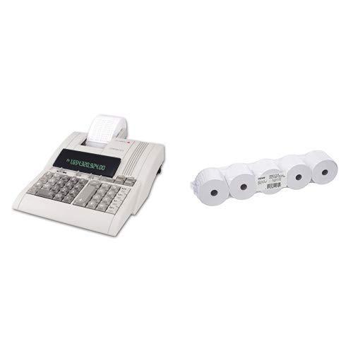 5er Pack Ersatz-taschen (Olympia CPD 3212 S Tischrechner Druckend & Genie Additionsrollen (Ersatz-Papierrollen, geeignet für Kassen und druckende Tischrechner, 40 lfm, 100% Holzfrei, 57 x 12 mm) 5er Pack weiß)
