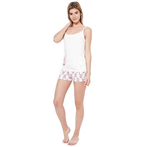 6e23fd6e64 Playboy Nightwear Bunny kurzer Pyjama Hausanzug M L XL (XL)