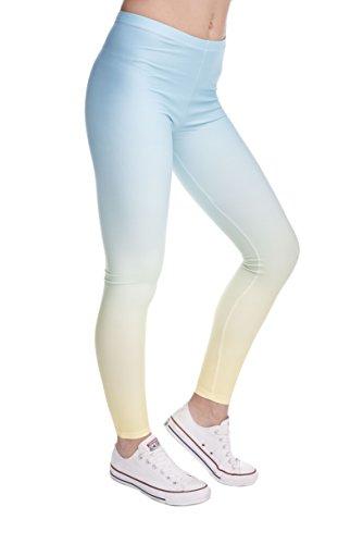 Bunte Damen Leggings Hose Einheitsgröße S-L | Mädchen Leggins bedruckt in verschiedenen Muster | Yoga Pants High Waist auch als Sporthose...