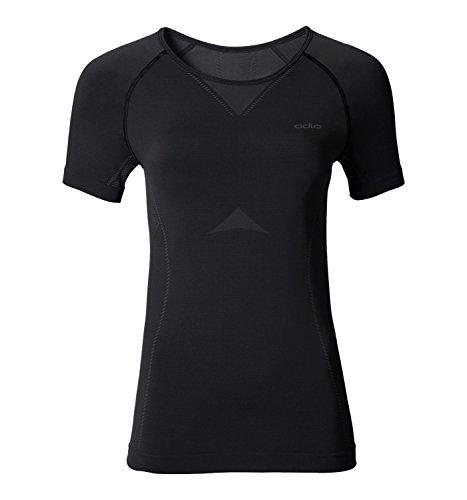 Odlo Damen Shirt S Crew Neck Evolution Light Unterhemd black - odlo graphite grey