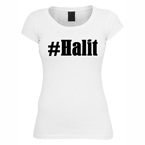 T-Shirt #Halit Hashtag Raute für Damen Herren und Kinder ... in der Farbe Weiß Weiß