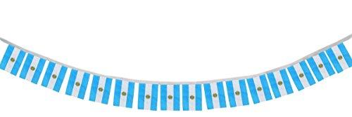 Sonia Originelli Fahnenkette Internationale Länder Girlande 16 Fähnchen 4,5 Meter WM Farbe Argentinien