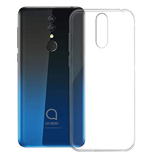 TBOC Transparent Gel TPU Hülle für Alcatel 3 2019 - Alcatel 3 (2019) [5.9 Zoll] Ultradünn Flexibel Silikon Gehäuse für Handy [Nicht Kompatibel mit Alcatel 3]