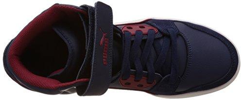 Puma Rebound Street SD, Sneakers Hautes Homme Bleu (Peacoat/White/Rio Red)