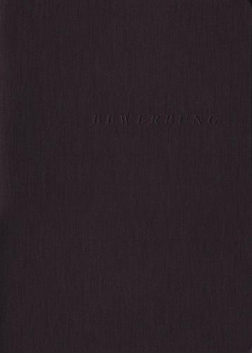 Exacompta 49401B Bewerbungsmappe (3-teilig mit 2 Klemmschienen und Innentasche, Kapazität 30 Blatt, Manila-Leinen-Karton, 400 g, Nature Future, DIN A4) 1 Stück schwarz - 2 Innentaschen