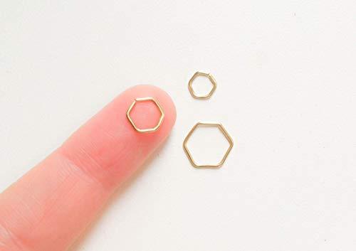 Hexagon Helix Piercing Ohrring Hoop Creolen Sechseck Piercing Ring