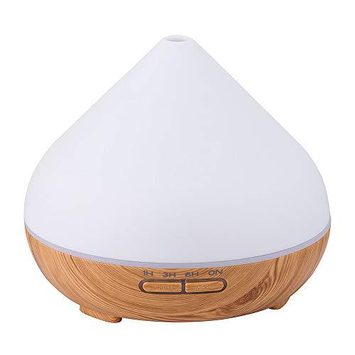 STRIR-Humidificador Ultrasónico Aromaterapia, Difusor de Aceites Esenciales 300 ML, Regalo Aceites Esenciales, 7-Color LED, Auto-Apaga, Ambientador, para Bebé, Dormitorio, Oficina etc