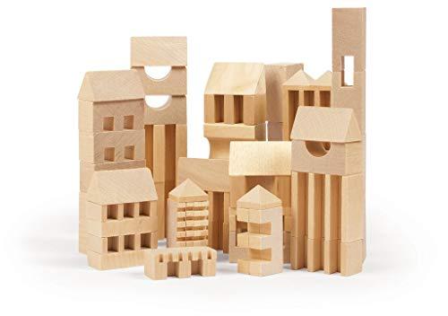 VARIS Toys C-01 Town Builder 107 Parts Construction Set, Multi Colour, One  Size