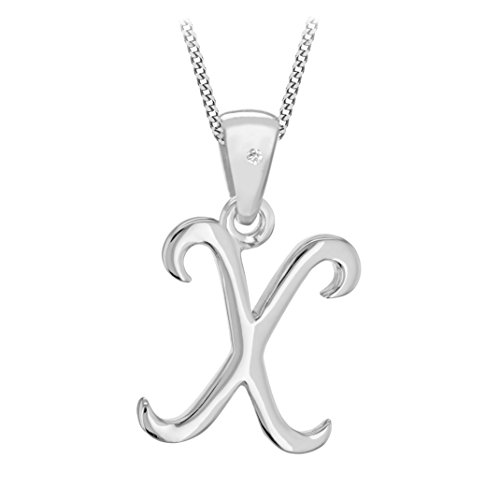 Tuscany Silver Unisex - Kette 925 Sterling Silber Rundschliff Diamant 8.44.7654