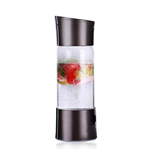 W&Z Soda Maker Sparkling Wassermacher Siphon Bottle Seltzer Water Bottle Portable Home Soda Maker 500ml,Black