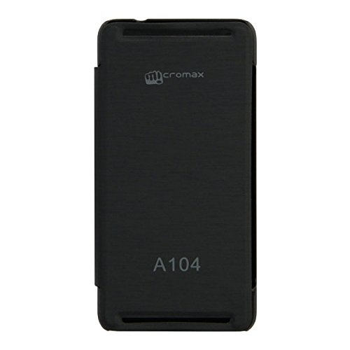 Acm Flip Case For Micromax Canvas Fire A104 Mobile Front & Back Flap Folio Cover-Black  available at amazon for Rs.179