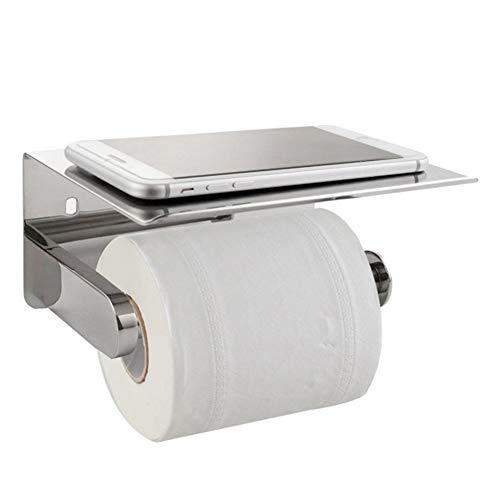 Lanrennb Toilettenpapierhalter 304 Edelstahl-Badpapierhandtuchhalter mit Handyablage