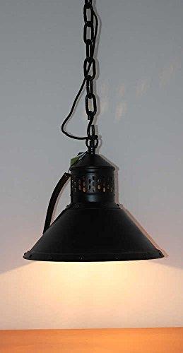 Suspension lampe Ø 38 cm ancienne Industrie Lampe Noir Loft Usine Plafonnier Loft