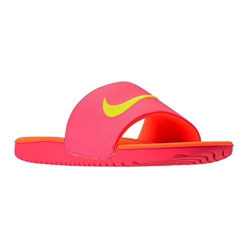 NIKE819352 - Kawa Slide (Gs/Ps) Unisex-Kinder Jungen, Pink (Hot Punch/Volt-total Orange), 17 EU M Kleines Art Hot Pink Slide