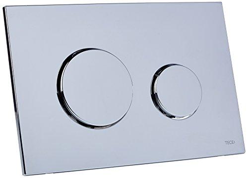 Tece Loop 9240626 - Placca di comando per WC in cromo lucidato