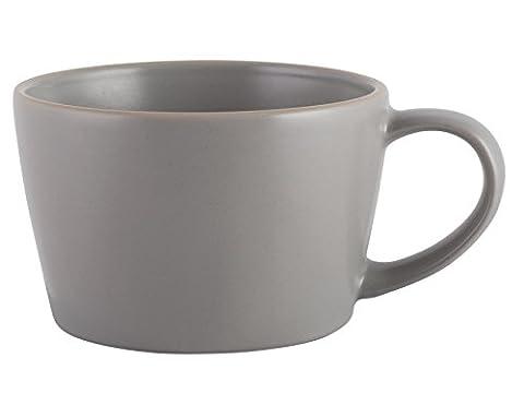 Mikasa Gourmet Basics Home Mug, Stoneware, Matte Grey