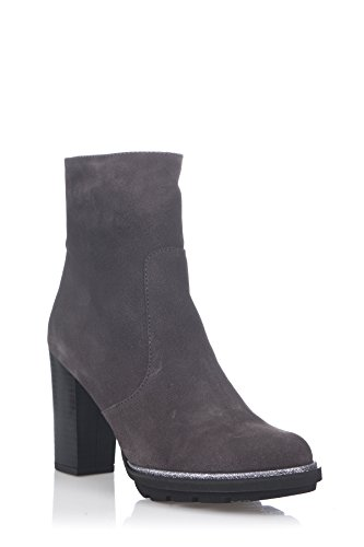Laura Moretti Damen Bootie With Platform Sole and Heel Stiefel Grau