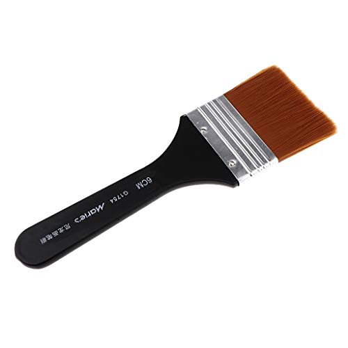 Homyl Washable Nylon Paint Brush Large Area Painting Brush Sets for Art Crafts DIY- Soft Material - Black+Brown, 200x60mm