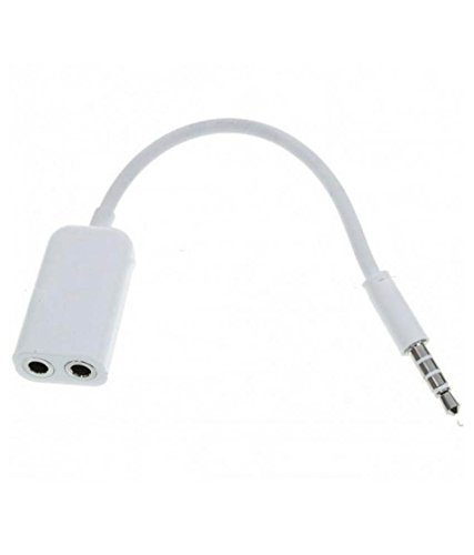 Captcha Audio Splitter Data Cable Best Sound Output Quality 3.5 mm  available at amazon for Rs.113