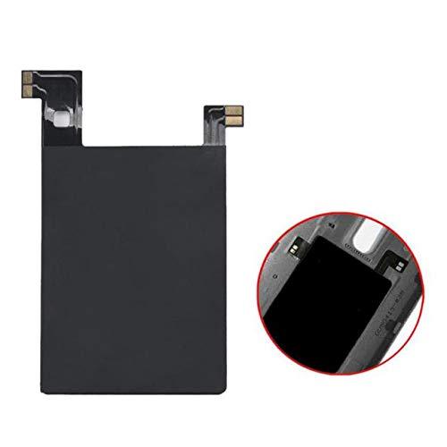 Kabelloses Ladegerät + Empfänger,Qi Ultradünn Wireless Ladegerät Ladepad + Qi Empfänger Aufkleber mit NFC für LG V10 (Schwarz)
