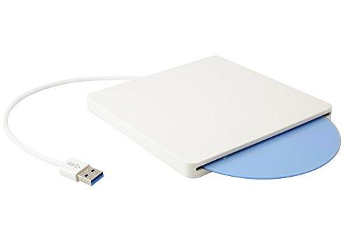 Firstcom externes USB 3.0 Slot-In Gehäuse/Case für Slim 12.7mm & Ultraslim 9.5mm SATA Blu-Ray/DVD/CD Laufwerk weiß (kein Laufwerk enthalten)
