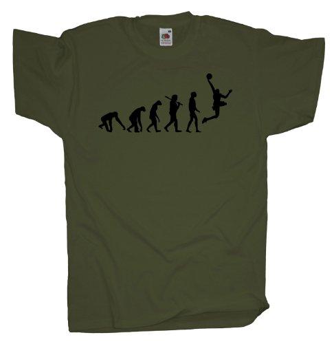 Ma2ca - Evolution - Basketballer Basketball T-Shirt Olive