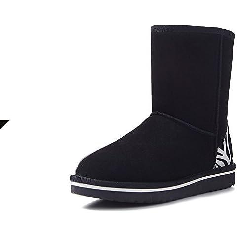 botas para la nieve de la moda/ Cebra en invierno nieve Botas/Seguido de un botas de cuero caliente/ alrededor de la cabeza con zapatos cómodos